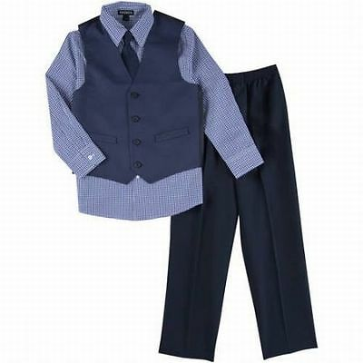 NWT George Boy's Size 4 4pc Pindot Special Occasion Suit Holiday