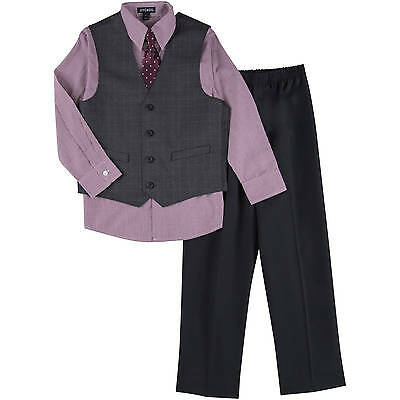 NWT George Boy's Size 5 4pc Windowpane Special Occasion Suit Holiday