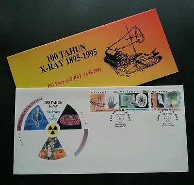 Malaysia 100 Years Of X-Ray 1995 X Ray Medical Body Bone Hand Science (FDC *rare