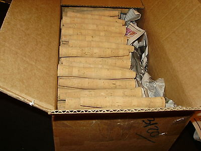 """MFG'S 25 PACK  7"""" Reverse Half Wells Cork Inletted Fly Rod Grips"""