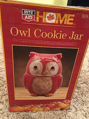 Owl Cookie Jar By Home Brand Rite Aide Kitchen Jars Home Decor