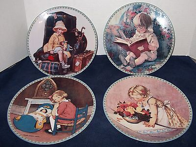 Complete Set of Yesterday's Innocents Plates - Jessie Willcox Smith - 1992