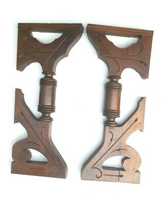 Vintage Corbels Entryway Wooden Brackets Shelves Mantles Mantels Interior Accent