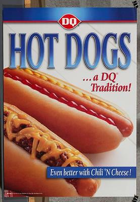 Dairy Queen Promotional Poster Hot Dogs A DQ Tradition dq2