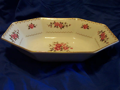 """Harmony House Rosette  9 1/2"""" Long Serving Oval Bowl Trim Discontinued"""