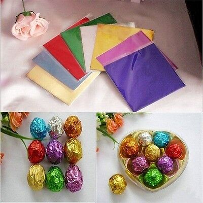 Lolly For Sweets Chocolate Square 100pcs Candy Paper Foil Wrappers Aluminum