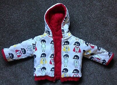 Sooki Baby - Zooper Hero Reversible Hooded Jacket Size 0 EUC