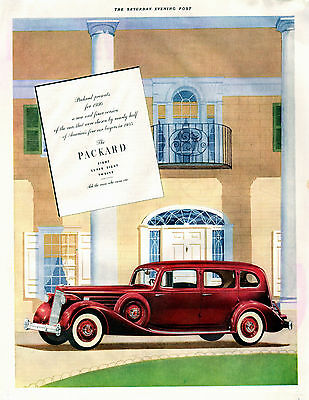 1936 Packard Car Ad--Eights, Super Eights, And Twelves--z423