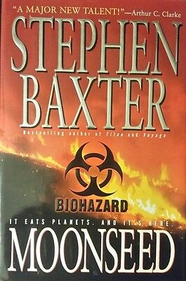 Stephen Baxter Moonseed Hardcover 1St Edition Nov 1998 Graded Nf/Fine Rare Oop