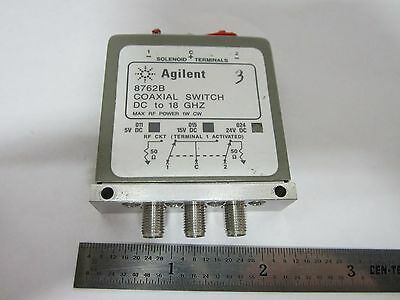 Agilent Hp Coaxial Switch 8762B Rf Microwave Frequency #1E-M-2