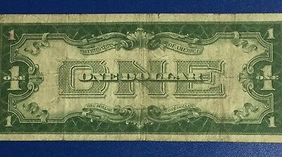 """1928A $1 Blue """"FUNNY BACK"""" SILVER Certificate X504 Old US Paper Money Currency!"""