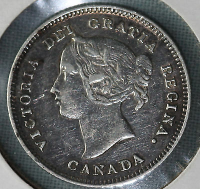 1901 Canada 5 Cents Silver Km2 Victoria ~ Combined Shipping