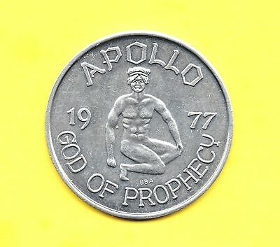 Greek Mythology Token ~ 1977 Apollo - god of Prophecy Coin