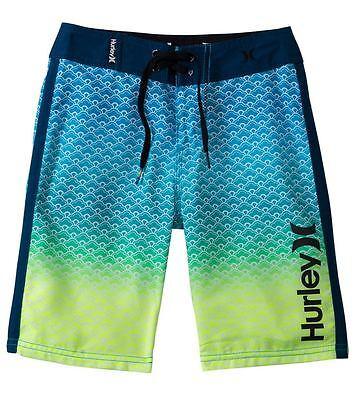 Hurley Youth Scallops Boardshorts Blue Force 25