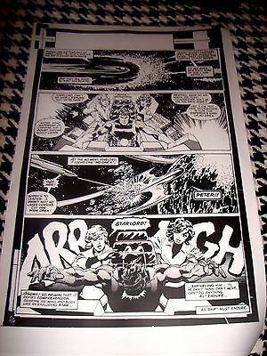 John Byrne Guardians Of Galaxy Starlord Page D Production Art Acetate