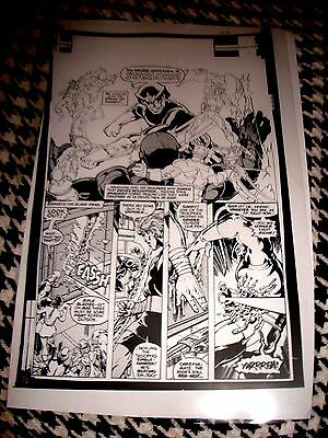 John Byrne Guardians Of Galaxy Starlord Page H Production Art Acetate