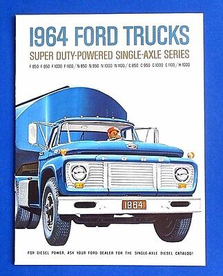 Mint 1964 Ford Super Duty Truck Brochure ~ F, C, N, H Series ~ 12 Pages
