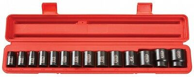 TEKTON 1/2 in. Drive 3/8 - 1-1/4 in. 6-Point Shallow Impact Socket Set