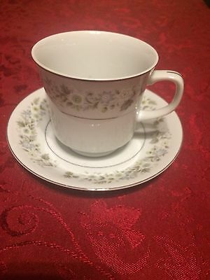 """Imperial China By W.Dalton WILD FLOWER 745 JAPAN 3"""" FOOTED CUP & SAUCER VGC"""