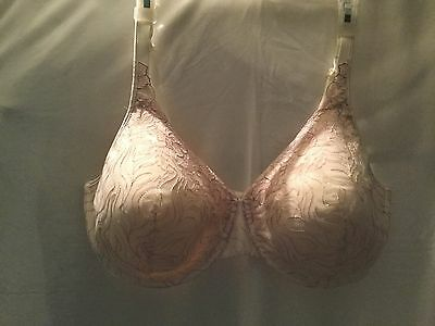 Women's Bra Plus Size 42DD Playtex #7576 Padded Laced Cups Underwire