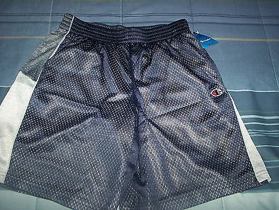 Champion-Youth Sports Shorts-New-Tags- Large-Blue