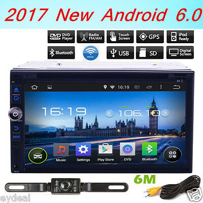 """Android 6.0 Quad-Core 7"""" Car DVD Player GPS Stereo Radio 2DIN Head unit+Camera"""