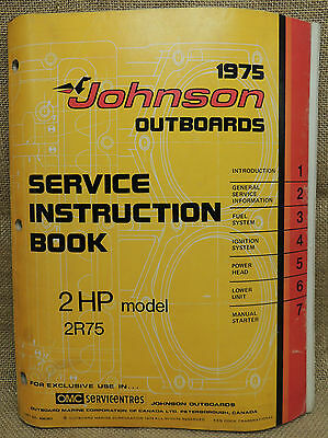 1975 Johnson Seahorse Service Repair Manual 2 HP 2R75
