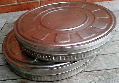 Vintage Retro Metal Film Canisters Round Case Display Decorative Ornament