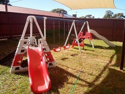 Large Commercial Outdoor Playground Swingset Slides
