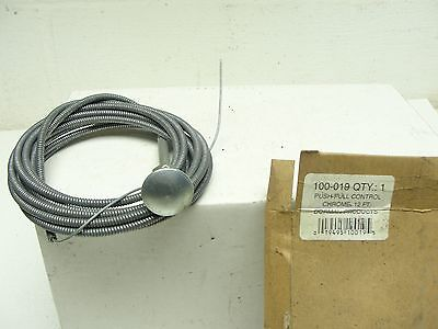 Vintage Dorman Push Pull Round Handle Shifting Cable NEW 12' Long