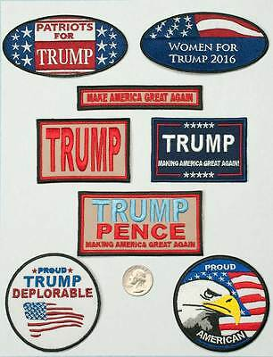 Donald Trump Make America Great Again Collector Patches (8 piece set)