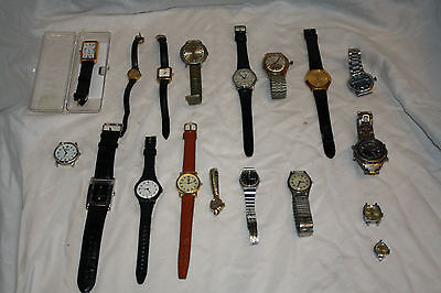 Estate Watches Lot - Vintage to Now -  Mens and Ladies - 18 pieces
