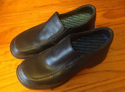 Women's COLORADO Black Leather Work Shoes, Size 9, Occupational Colorados