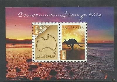 AUSTRALIA 2014 CONCESSION Stamp Miniature Sheet only available in year book!