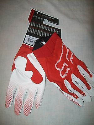 BNWT'S FOX RACING AIRLINE MOTH GLOVES RED/WHITE 11 X-LARGE,shift,fly,thor,deft