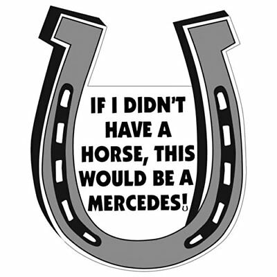 If I Didn't Have A Horse, This Would Be A Mercedes Magnet