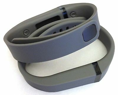 2pcs Large L Grey Band With Clasps For Fitbit Flex Wireless Bracelet /No Tracker
