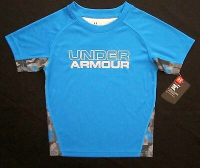 Under Armour Toddler Little Boys 3T Short Sleeve Brilliant Blue Graphic T-Shirt
