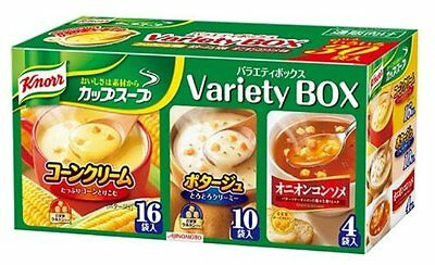 New Knorr Cup Soup Variety Box 30 Packs Corn cream Potage Onion consomme F/S
