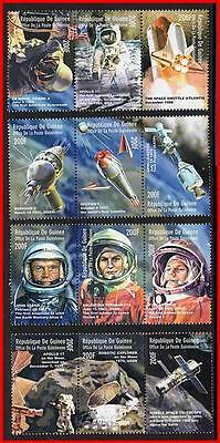 GAGARIN/TERESHKOVA = USA & RUSSIA in SPACE // APOLLO-SOYUZ  MNH ** fr.GUINEA