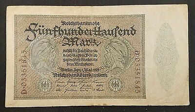 GERMAN 500000 MARK 1923 Germany Reichsbanknote ~ Rare Collector's Choice Note!