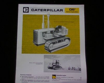 1974 Caterpillar D5 Bulldozer sales brochure