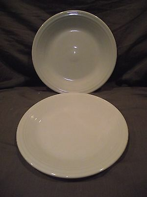 Set of 2 Homer Laughlin Fiesta Fiestaware White Dinner Plates
