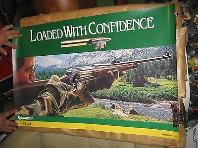 "Vintage Remington Loaded with confidence 35"" by 23"" poster  NICE"