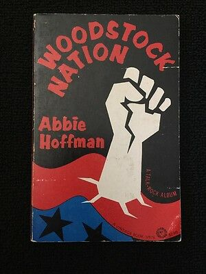 1969 Woodstock Nation by Abbie Hoffman A Vintage Book 6th Printing