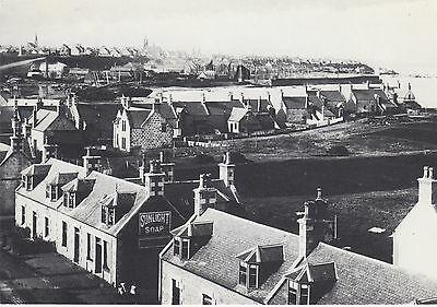 BUCKIE FROM THE EAST IN THE 1890s OLD VIEW POSTALLY UNUSED POSTCARD / SUPERB CON