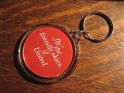 United Airlines Keyring -  Fly The Friendly Skies Airplane Stewardess Keychain