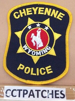 Cheyenne, Wyoming Police Shoulder Patch Wy