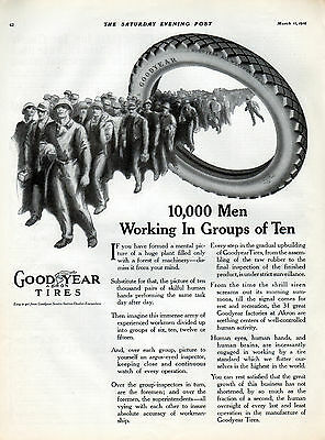 1916 Goodyear Tire Ad -Tires, Tubes, & Accessories-2 page ad 21 x 13 1/2--[-1112