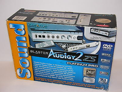 Sound Blaster Audigy 2 Zs Platinum Pro External Hub / No Sound Card Included